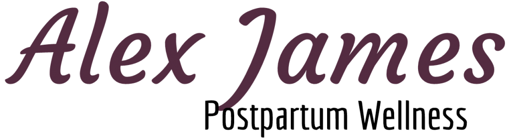 Alex James Postpartum Wellness Logo