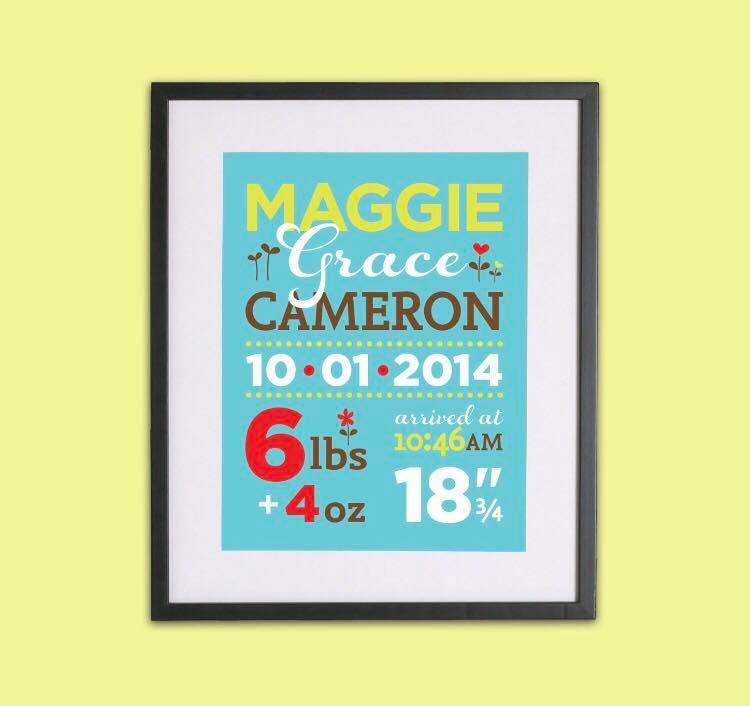 Birth Announcement Hanging